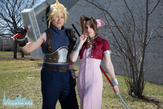C2E2 2018 FFVII Cloud and Aerith