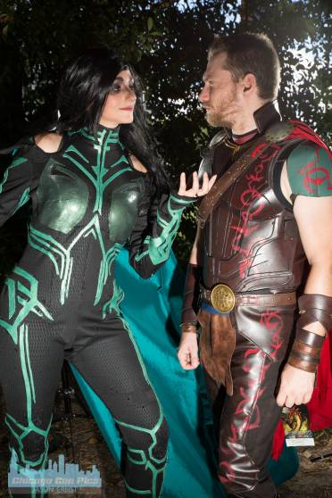 Hela and Thor at Dragon Con 2018 - Jason's Pics